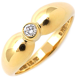 Tiffany & Co. Tear Drop 18K Yellow Gold Diamond Rings Size 5