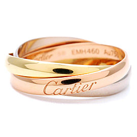 Cartier Trinity Ring 18k Tri-Gold Size 5.5