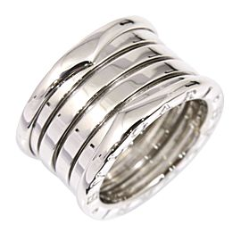 Bulgari 18K White Gold B-Zero 1 Ring Size 5.25