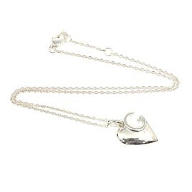 Gucci Sterling Silver Heart Pendant Necklace