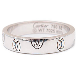 Cartier Happy Birthday 18K White Gold Ring Size 6.5