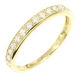 Ponte Vecchio 18K YG Diamond Half Eternity Ring Size 5