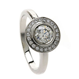 Cartier Ring Platinum Diamond Size 4.75