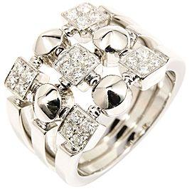 Bvlgari 18K White Gold Diamond Ring Size 7