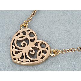 Tiffany & Co. Gold Tone Enchanted Heart Necklace