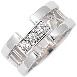 Tiffany & Co. Atlas 18K White Gold Diamond Ring