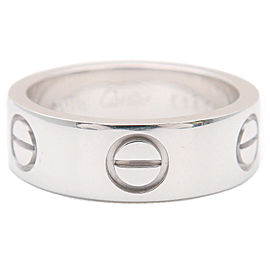 Cartier Love Ring 18K White Gold Ring Size 4.5