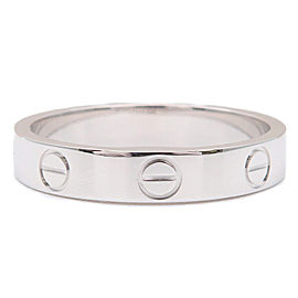 Cartier Mini Love Ring 18K White Gold Size 7
