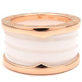 Bulgari B-zero 18k Rose Gold Ceramic Ring Size 5.5