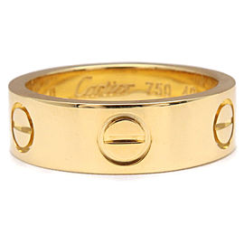 Cartier 18K Yellow Gold Love Ring Size 5