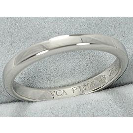 Van Cleef & Arpels Platinum Wedding Ring Size 4.5