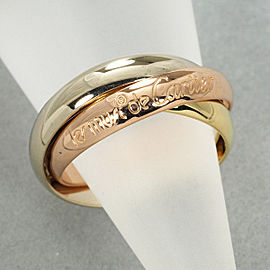 Cartier Trinity Ring 18K White Gold, 18K Yellow Gold, 18K Rose Gold Size 5.25