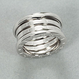 Bulgari B.Zero1 18K White Gold Ring Size 4.5