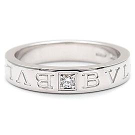 Bvlgari 18K White Gold Diamond Ring Size 8