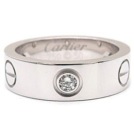 Cartier 18K White Gold Diamond Ring Size 5.5