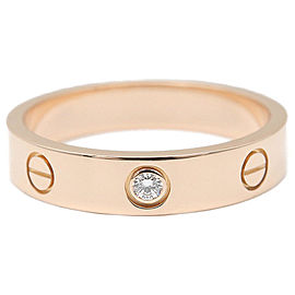 Cartier 18K Rose Gold Diamond Ring Size 7