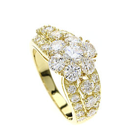 Van Cleef & Arpels 18K Yellow Gold Diamond Ring