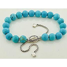 David Yurman Sterling Silver Turquoise, Onyx Bracelet