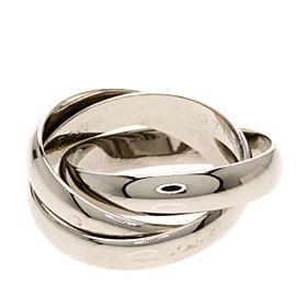 Cartier 18K WG Trinity Ring Size 4