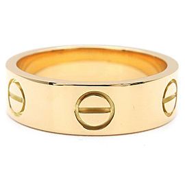 Cartier 18K Yellow Gold Love Ring Size 5.5