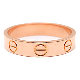 Cartier 18K Rose Gold Mini Love Ring Size 5
