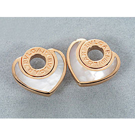 Bulgari 18K RG Cuore shell Earrings