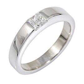 Cartier 18K White Gold Diamond Ring Size 4.5