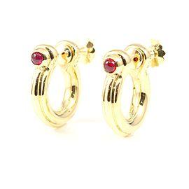 Van Cleef & Arpels 18K Yellow Gold Ruby Earrings