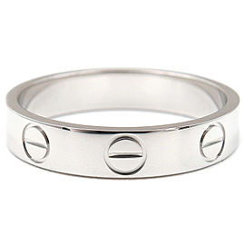 Cartier 18K White Gold Mini Love Ring Size 5