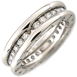 Bulgari 18K White Gold Diamond B-zero1 Ring Size 4.5