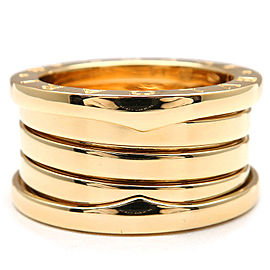 Bulgari 18K Yellow Gold B-zero1 Ring Size 5.5