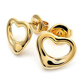 Tiffany & Co. 18K Yellow Gold Open Heart Earrings