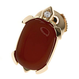 Cartier 18K RG Carnelian, Diamond Brooch
