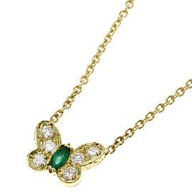 Van Cleef & Arpels 18K YG Emerald, Diamond Necklace