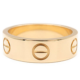 Cartier 18K YG Love Ring Size 5