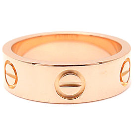 Cartier 18K RG Love Ring Size 5