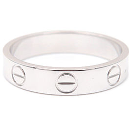 Cartier 18K WG Mini Love Ring Size 5