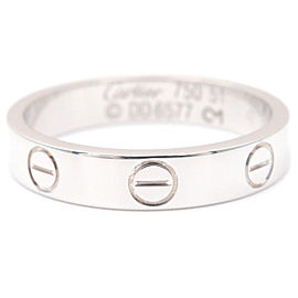 Cartier 18K WG Mini Love Ring Size 5.5