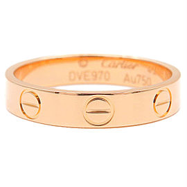 Cartier 18K RG Mini Love Ring Size 5