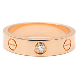 Cartier 18K RG Diamond Mini Love Ring Size 4.5