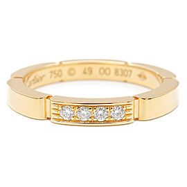 Cartier 18K YG Diamond maillon panthère Ring Size 5