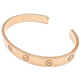 Cartier Love 18K Rose Gold Open Bangle