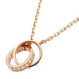 Cartier Baby Love 18K Rose Gold Diamond Necklace