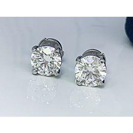 Tiffany & Co. Platinum Diamond Earrings