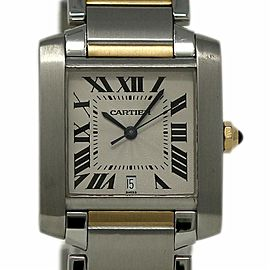 Cartier Tank Francaise Large W51005Q4 Steel Gold Automatic
