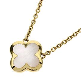 Van Cleef & Arpels 18K YG Mother Of Pearl, Pearl Necklace