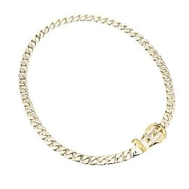 18K Yellow Gold, Sterling Silver Necklace