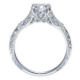Gabriel & Co. 18K White Gold Diamond Engagement Ring Size 6.5