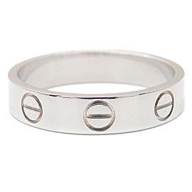 Cartier 18K WG Mini Love Ring Size 4.5