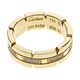 Cartier 18K Yellow Gold Diamond Ring Size 5.25